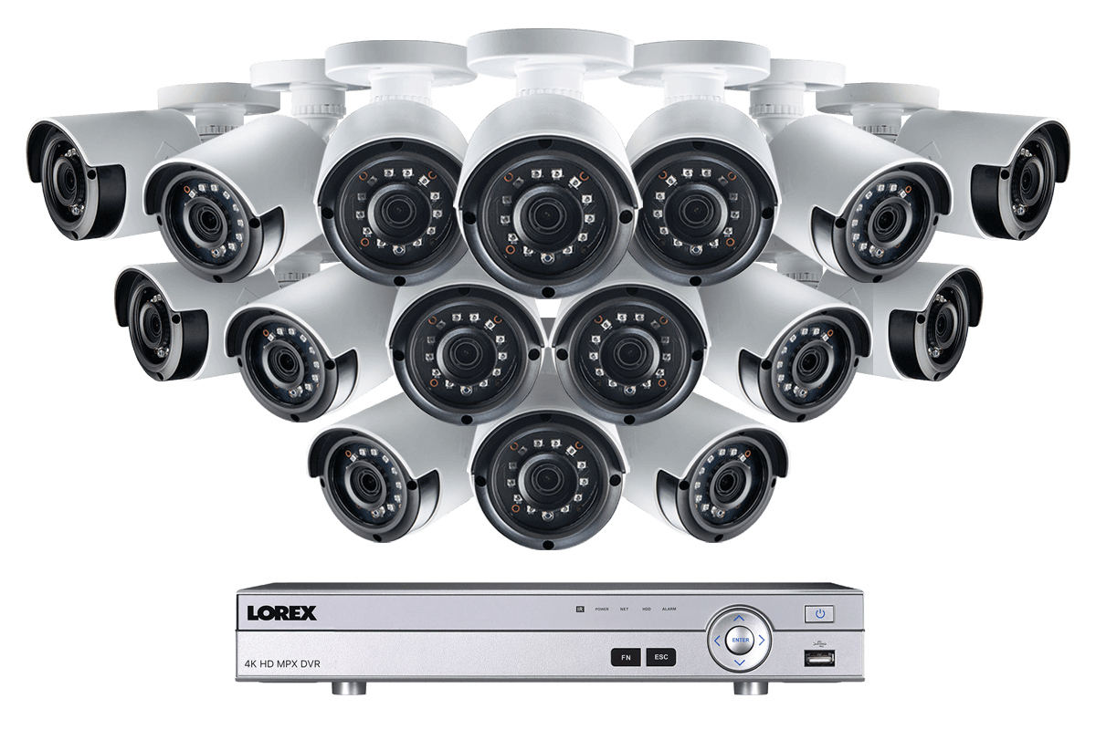 2K Super HD 16 Channel Security System with 16 Super HD 2K Outdoor Cameras,  130ft night vision