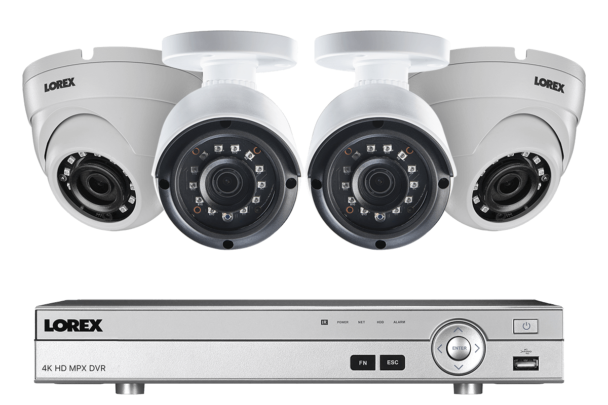 4 Channel 2K HD Security Camera System with 4 2K Metal Outdoor ...