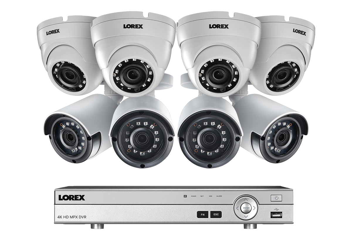 8 Channel 2K HD Security Camera System with 8 2K Metal Outdoor ...