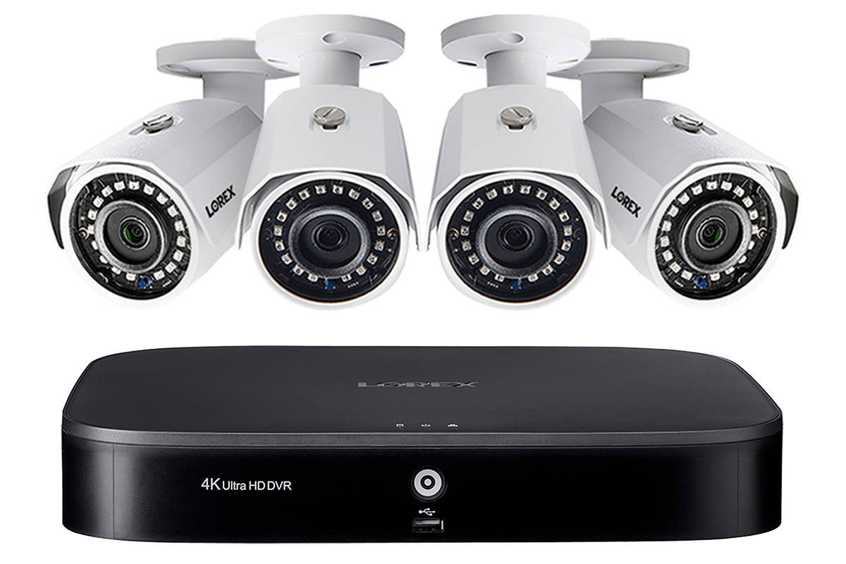 2k Super Hd 8 Channel Security System With Four 2k 5mp Cameras Advanced Motion Detection And Smart Home Voice Control Lorex