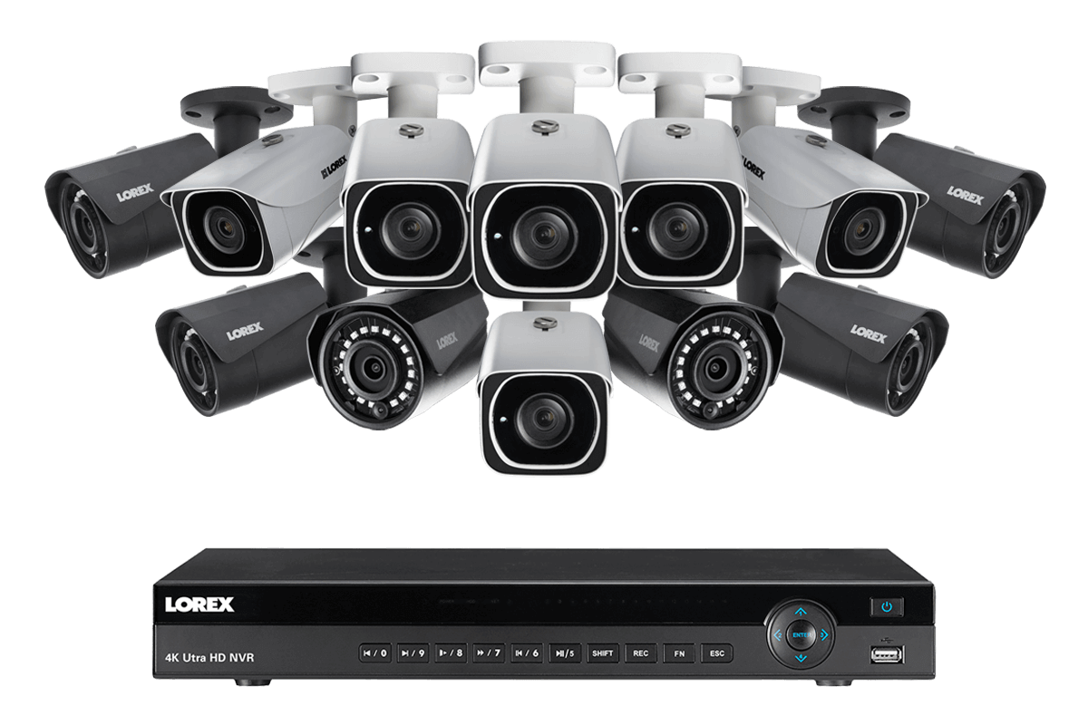 4K Ultra HD IP NVR system with 6 Outdoor 4K 8MP IP Cameras