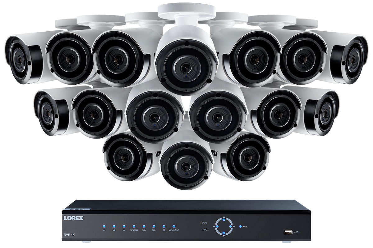 2K Super HD IP NVR security camera system with 16 2K (4MP) IP