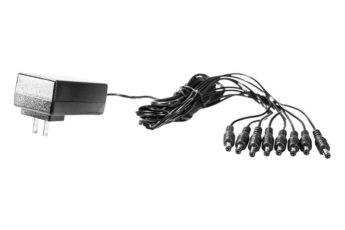 8 Split Power Cord for CCTV Security Camera DVR Accessory USA DC 12V 5A Power Supply Adapter