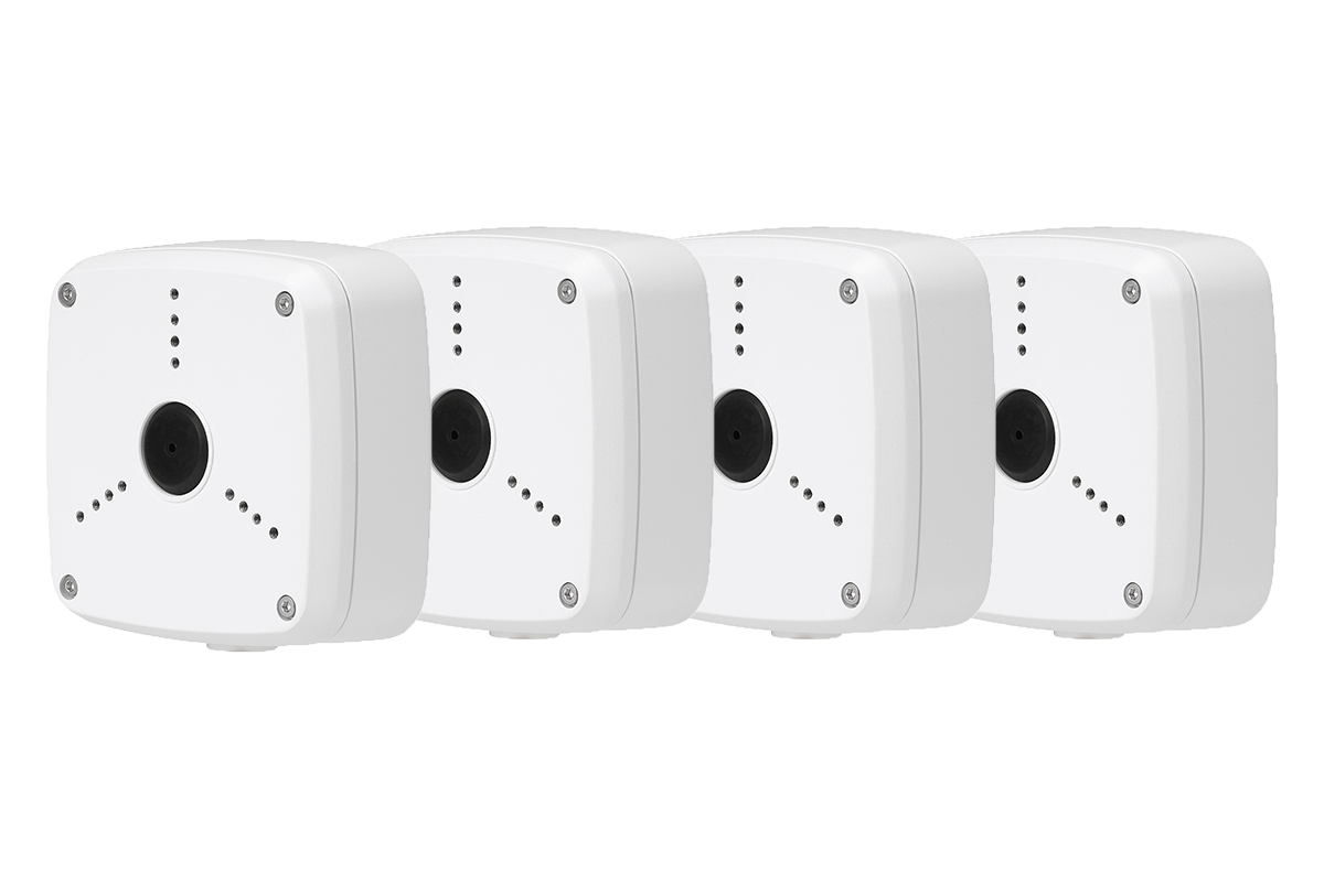 White Outdoor Junction Box for 3 Screw Base Cameras Pack of 6 pcs Lorex ACJNCD3B
