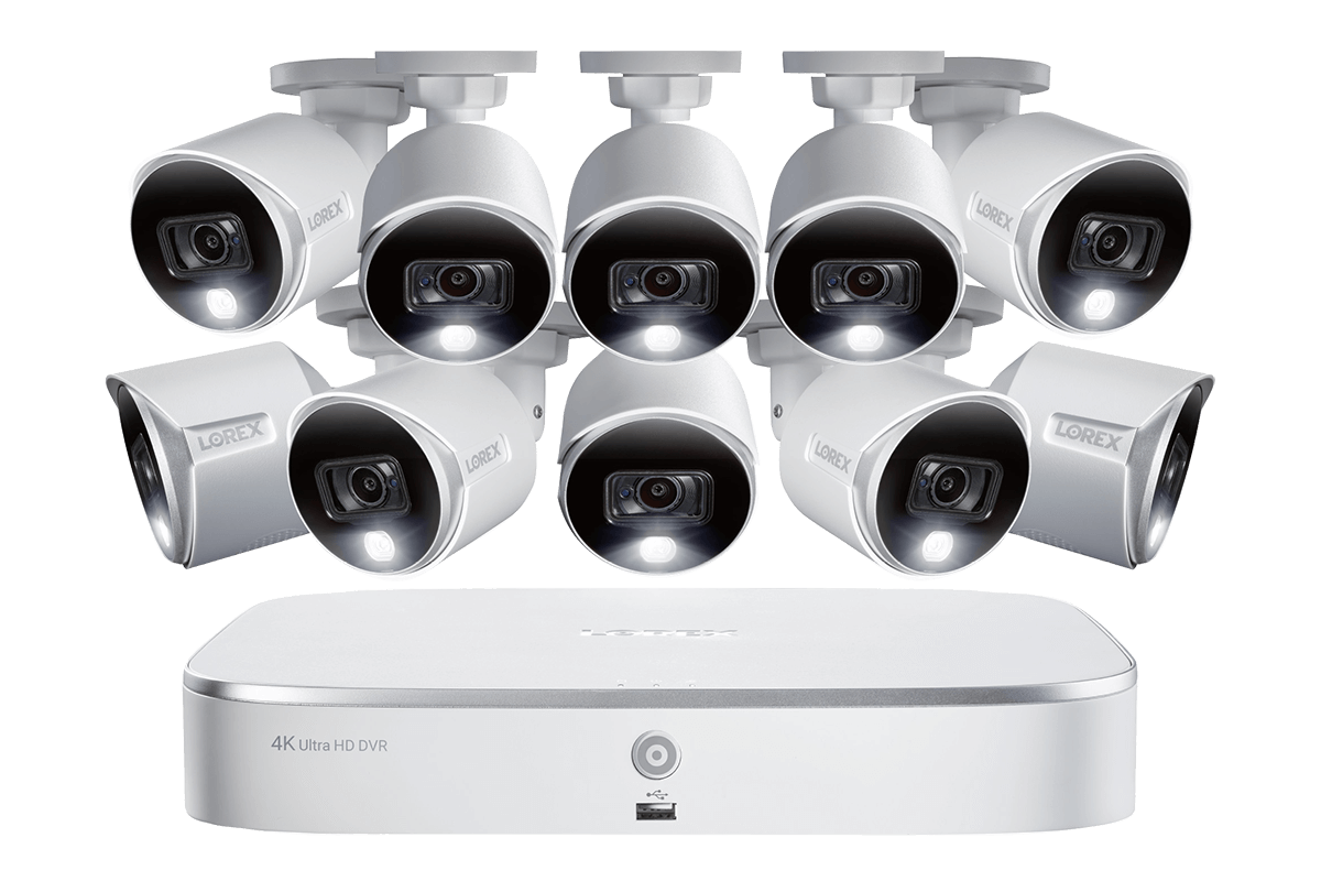 4K Ultra HD Security System with 4K (8MP) Active Deterrence