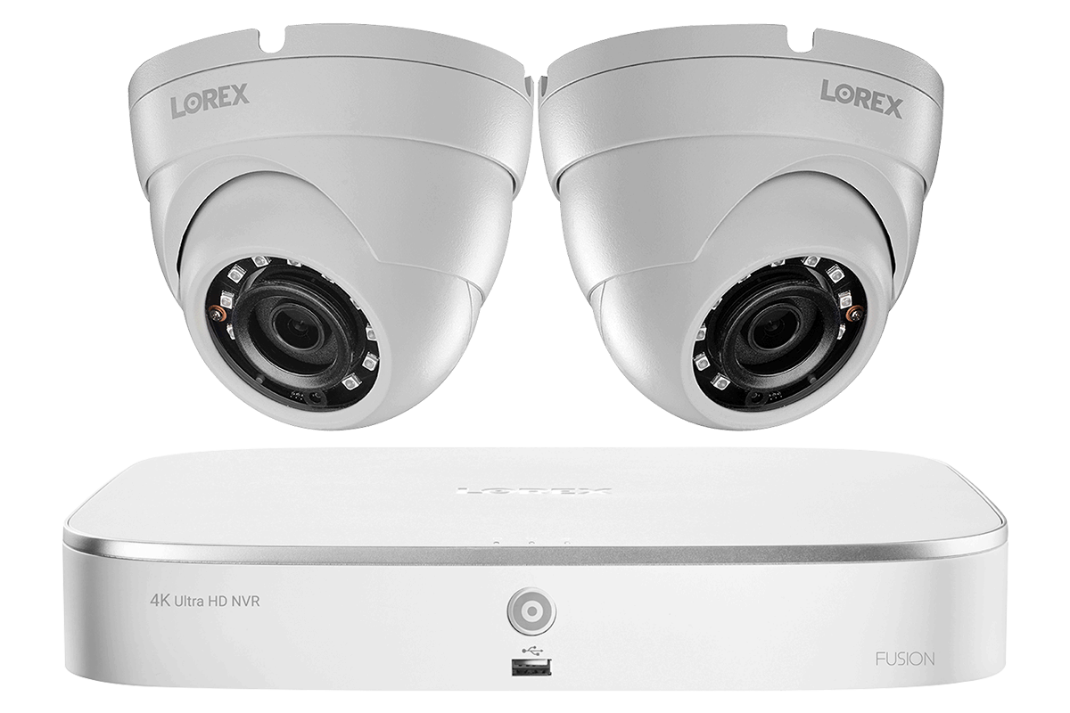 2k Ip Security Camera System With 8 Channel Nvr And 2 Outdoor 5mp Dome Cameras Lorex