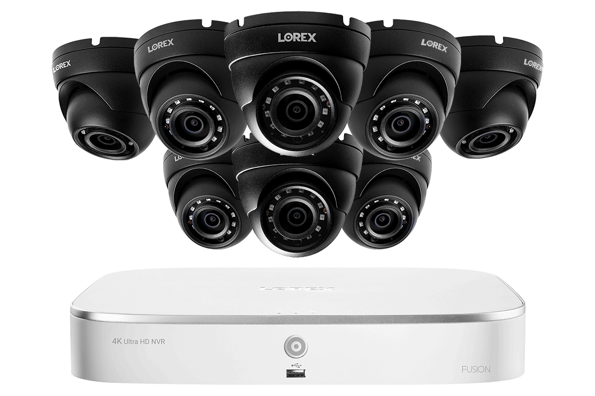 8 Channel 2k Resolution Ip Security Camera System With 8 Color Night Vision Dome Cameras Lorex