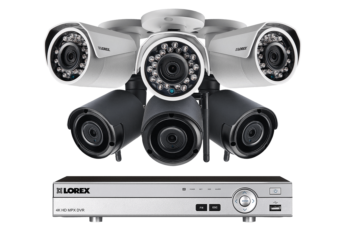8-Channel System with 3 Wireless and 3 HD 1080p Resolution Security Cameras