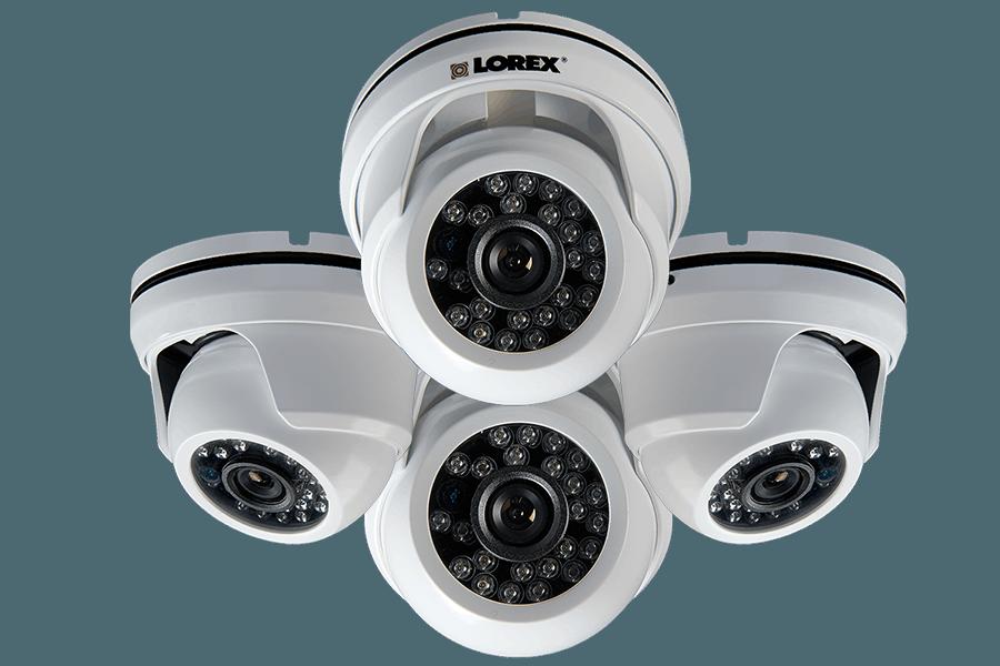 900TVL Weatherproof Night Vision Dome Security Cameras | Lorex