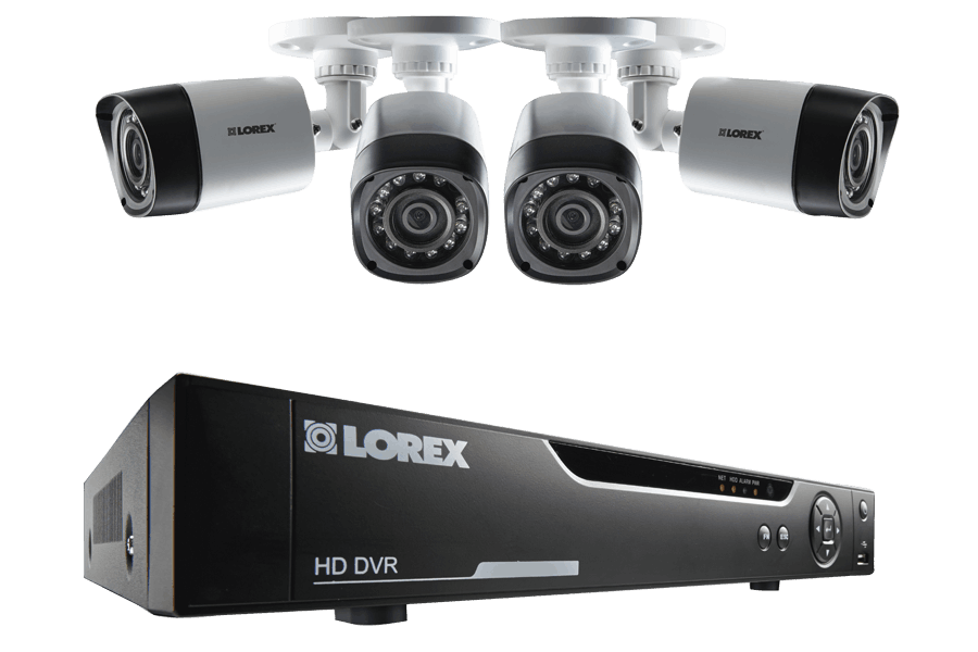 4 Channel Series Security DVR system with 720p HD Cameras | Lorex