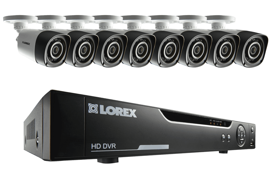 16 Channel Series Security DVR system with 720p HD Cameras | Lorex