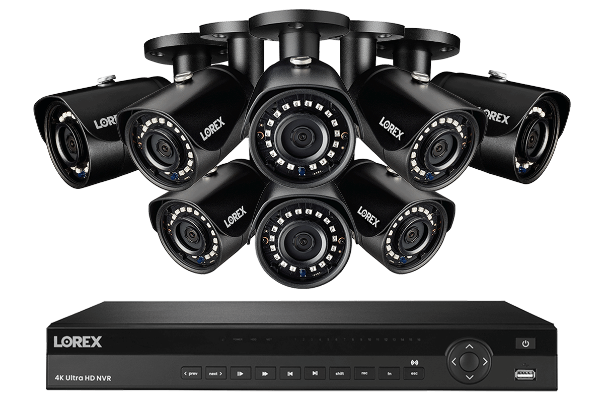 2k Ip Security Camera System With 16 Channel Nvr And 8 Hd Ip Outdoor 5mp Cameras 135ft Night Vision Lorex