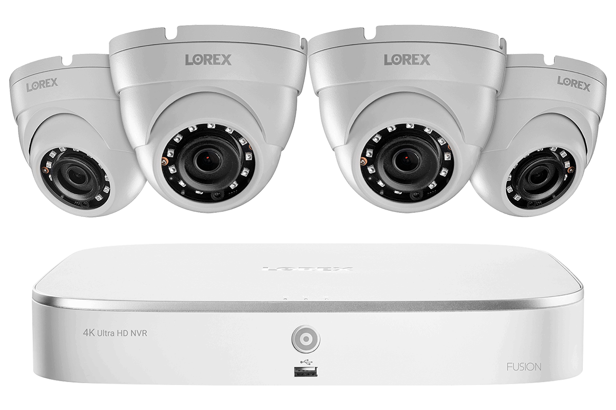 2k Ip Security Camera System With 8 Channel Nvr And 4 Outdoor 5mp Dome Cameras Lorex