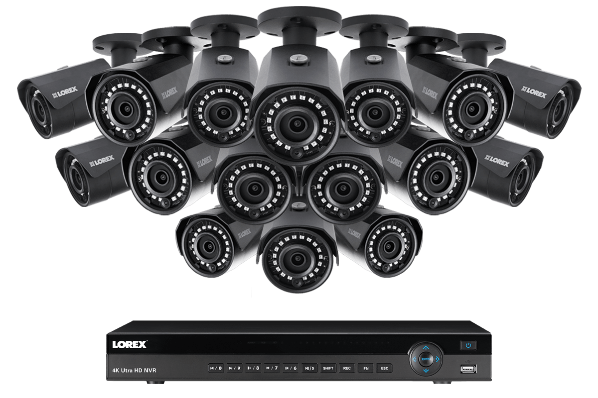 4K IP Security Camera System with 16 Channel NVR and 16 Outdoor 2K
