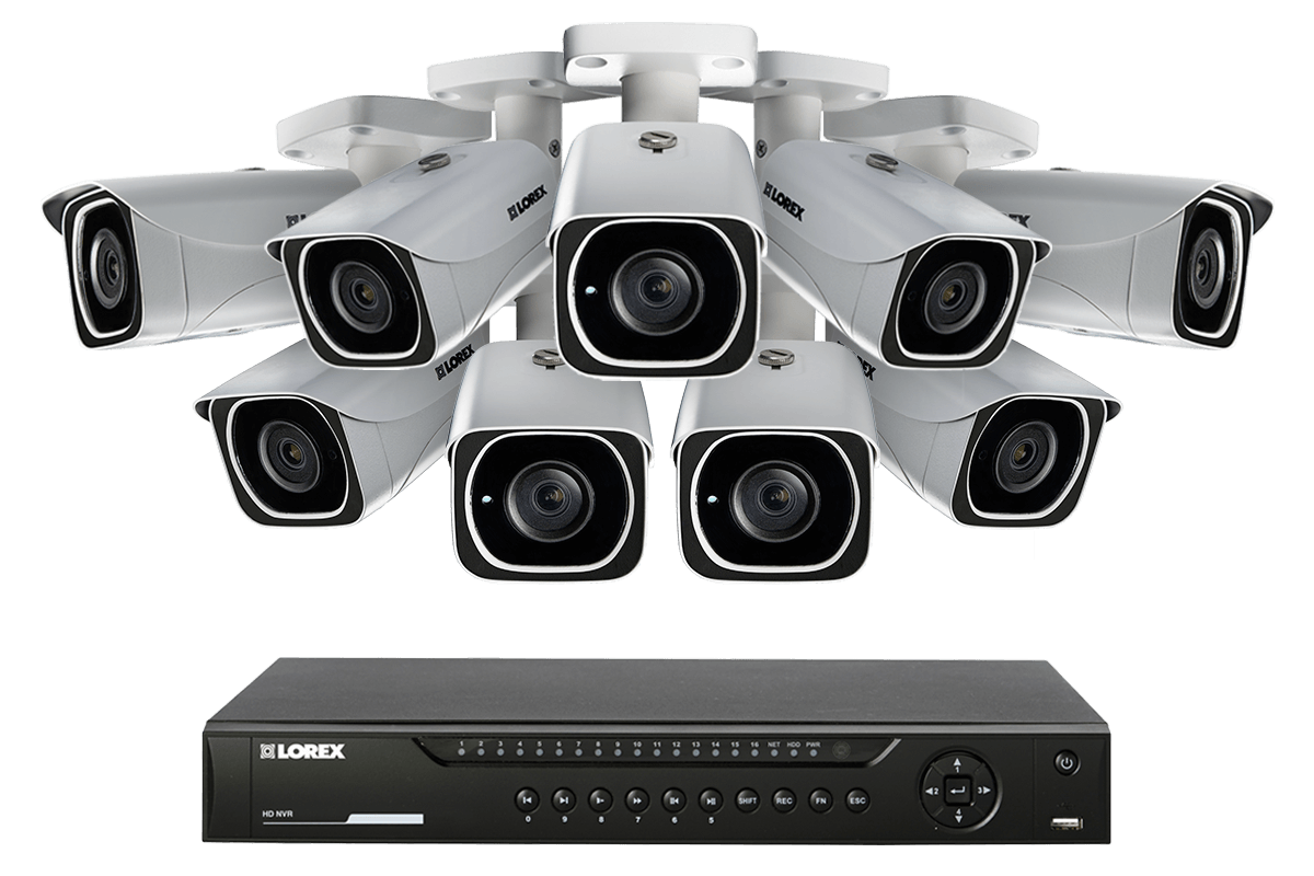 Ip Camera System With 9 Ultra Hd 4k Security Cameras Flir Secure Dome Wiring Diagram Connectivity Lorex
