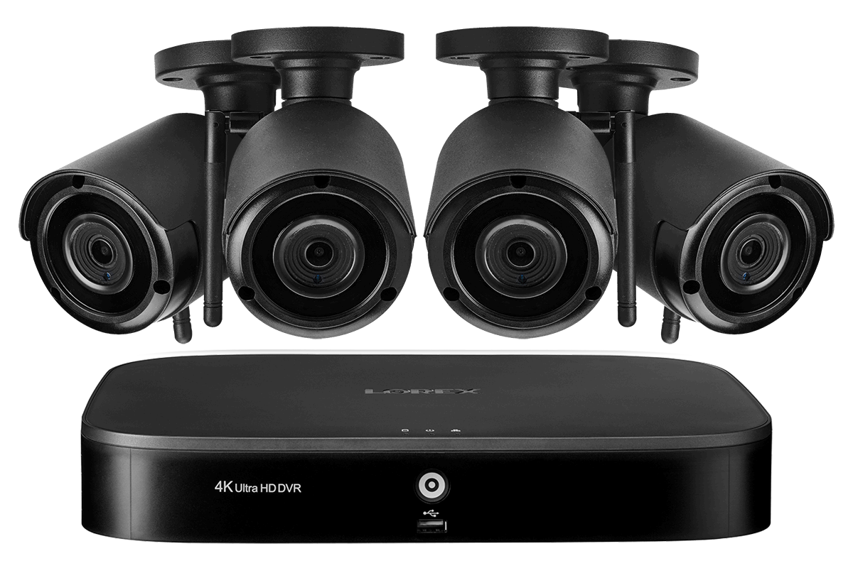 8 Channel System With 4 Wireless Security Cameras Lorex