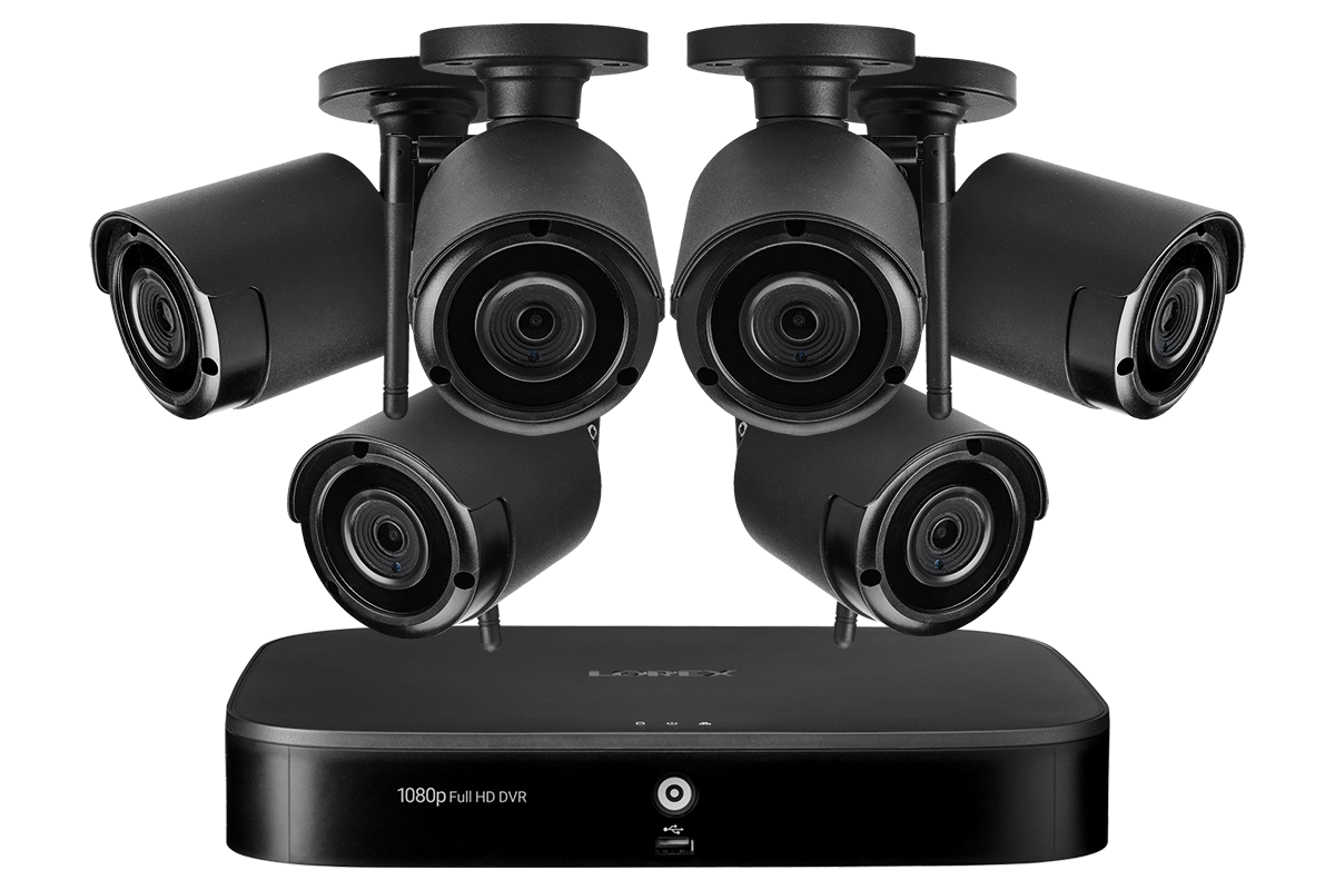 1080p Full Hd 8 Channel System With 6 Wireless Security Cameras With Audio Lorex