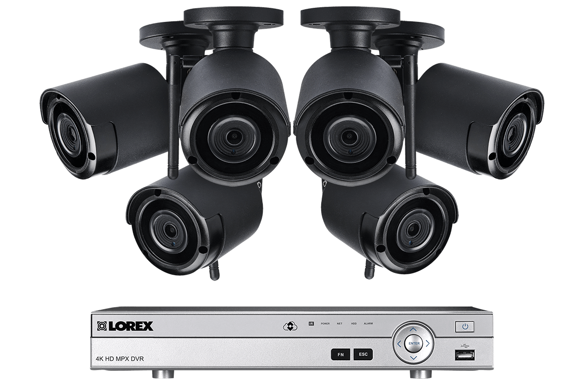 1080p Full Hd 8 Channel System With 6 Wireless Security Cameras Remote View Mobile Dvr Shock Sensor And Wifi Antenna Audio