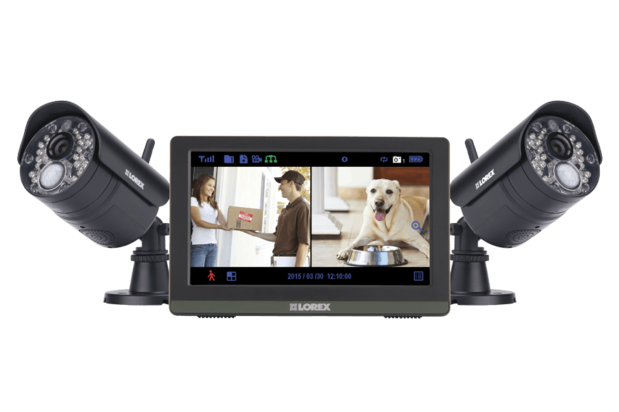 Wireless 720p Touch Screen Video Surveillance System with 2 ...