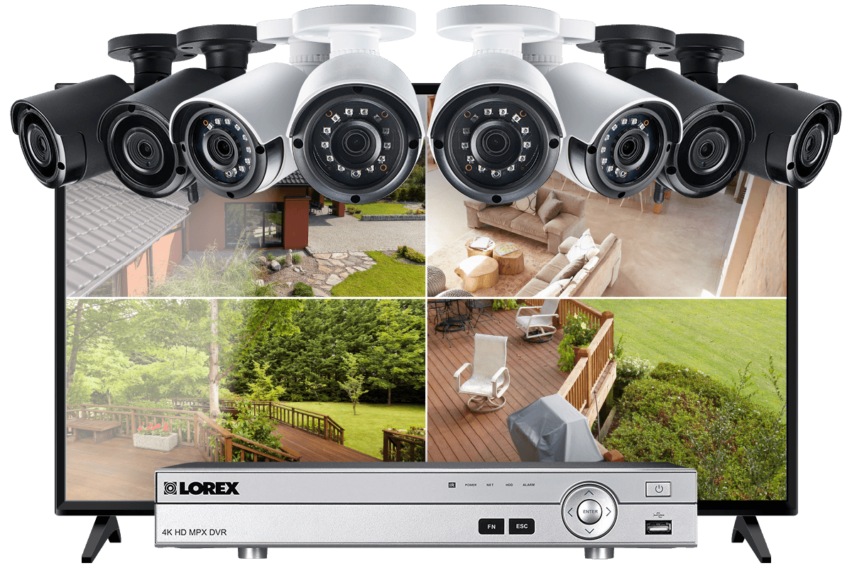 16-Channel System with 4 Wireless and 4 2K Resolution Security Cameras and  43