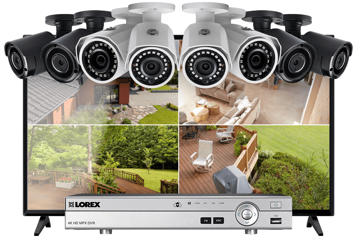 abbe25e9694 16-Channel System with 4 Wireless and 4 2K Resolution Security Cameras and  43