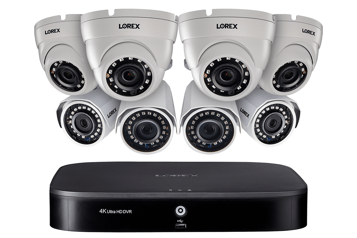8 Channel Security System With Eight 1080p Hd Outdoor Cameras Advanced Motion Detection And Smart Home Voice Control Lorex