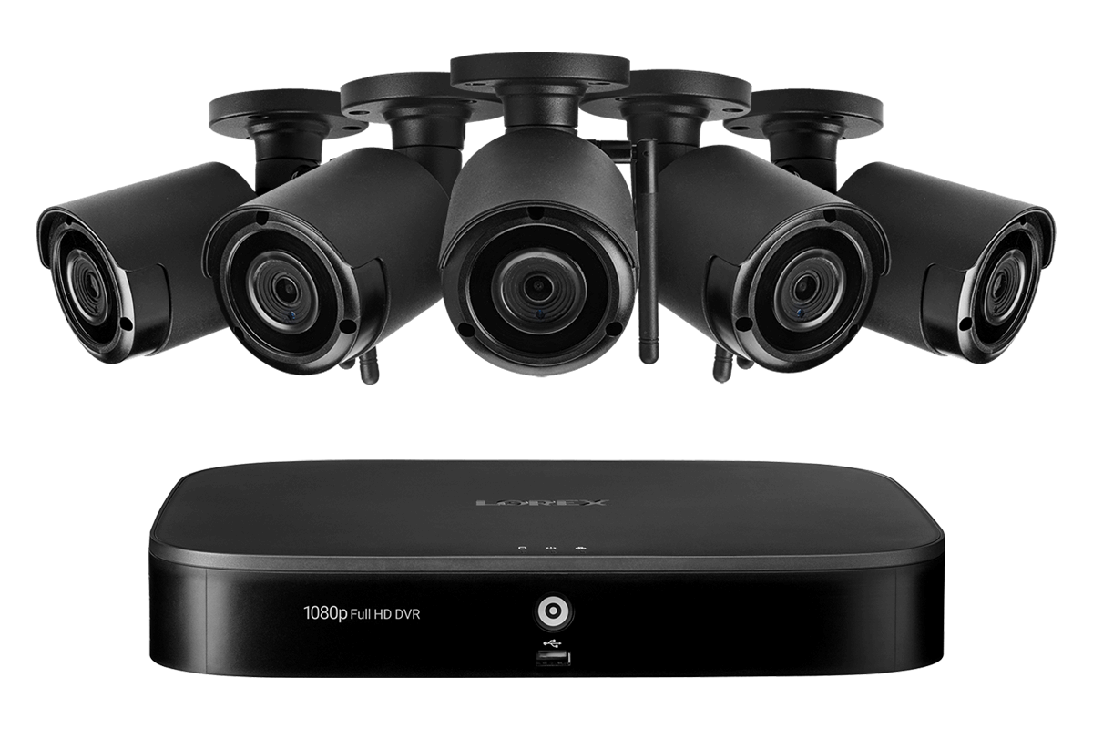 8 Channel System With 5 Wireless Security Cameras Lorex