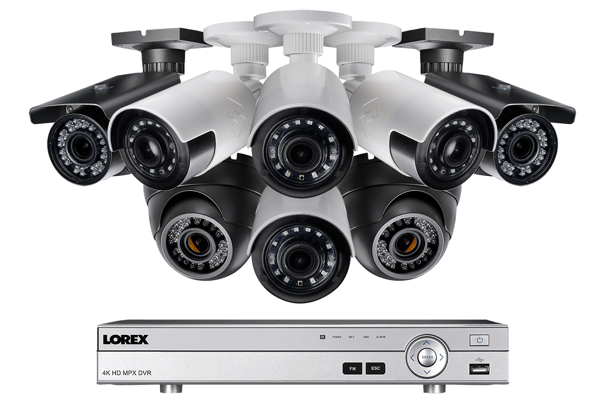 1080p HD Outdoor Security System with 4 Ultra Wide Lens Cameras and ...
