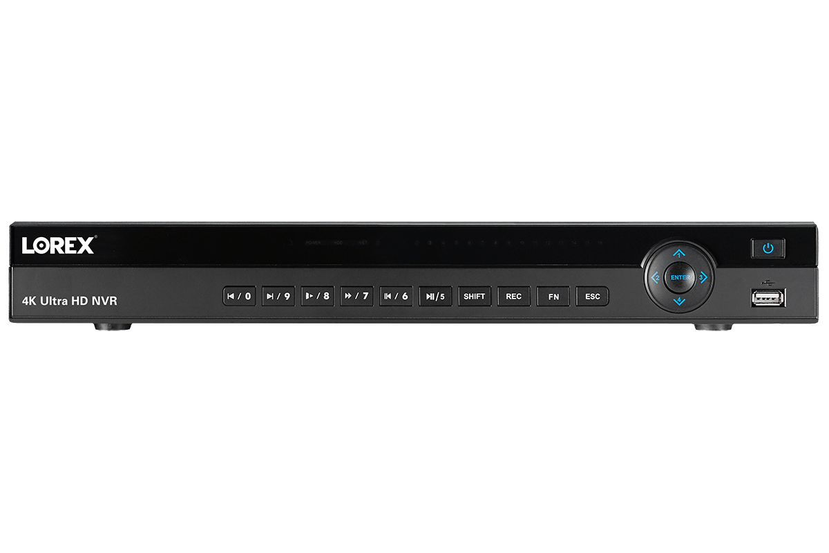 4K Ultra HD 8 Channel Security NVR, 2TB Hard Drive, POE, Records 4K (4 x  1080p) at 30FPS with Audio Recording