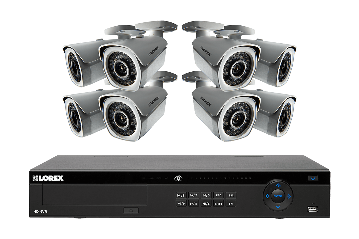 1080p Security Camera System with 16 Channel NVR with 8 HD cameras ...