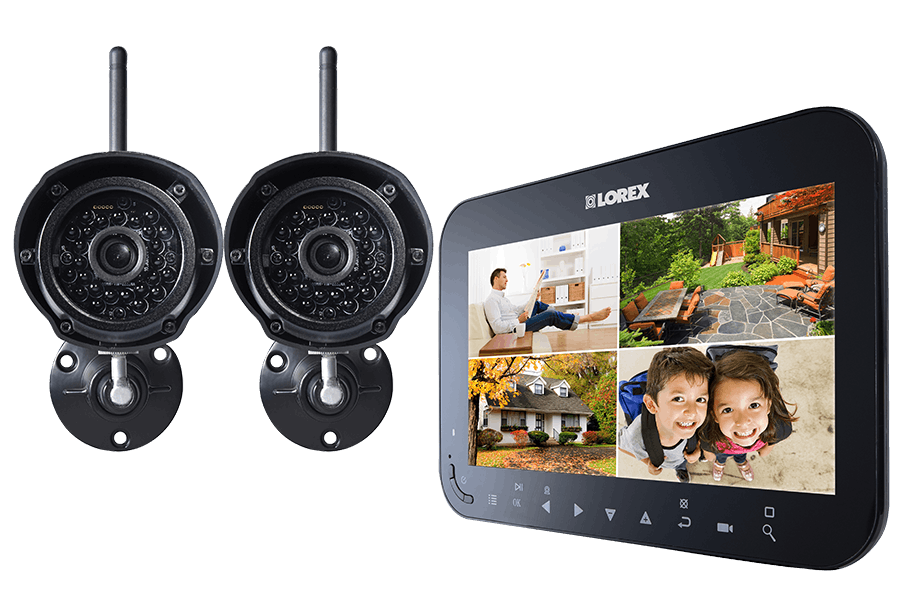 home monitoring system with 7 inch monitor and 2 wireless cameras rh lorextechnology com lorex wireless security system manual lorex wireless security cameras manual