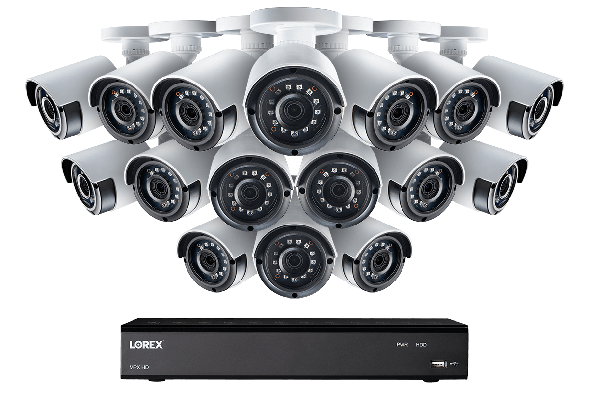 1080p 16 Channel HD Security Camera System with 16 1080p Outdoor Cameras,  130ft Night Vision, 2TB Hard Drive