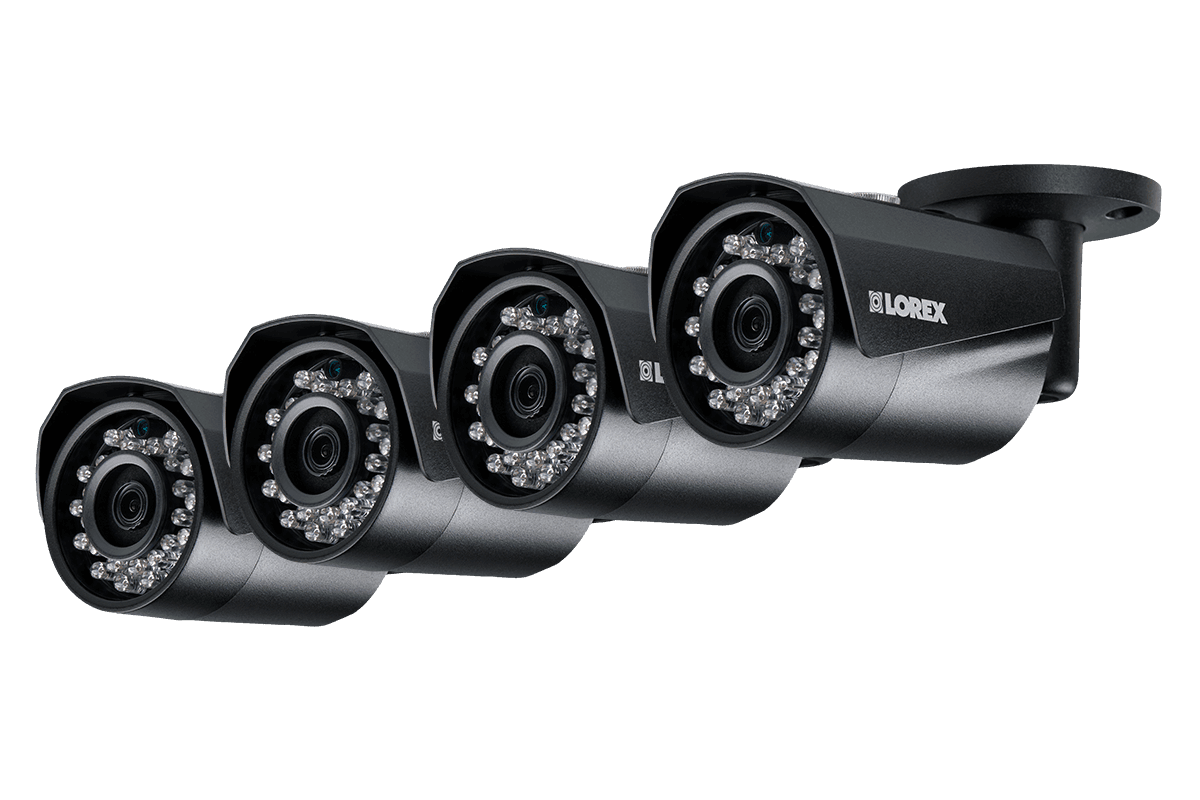 HD IP Cameras with Color Night Vision (4-pack) | Lorex by FLIR