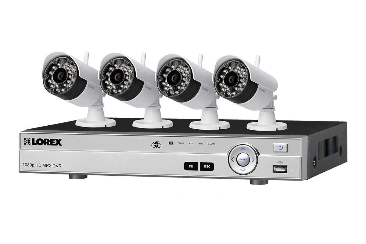 wireless home security system with 4 cameras lorex