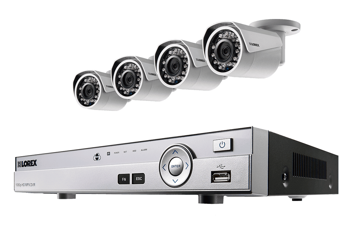 Simple 1080p HD 4 Camera Home Security System with Night Vsion | Lorex