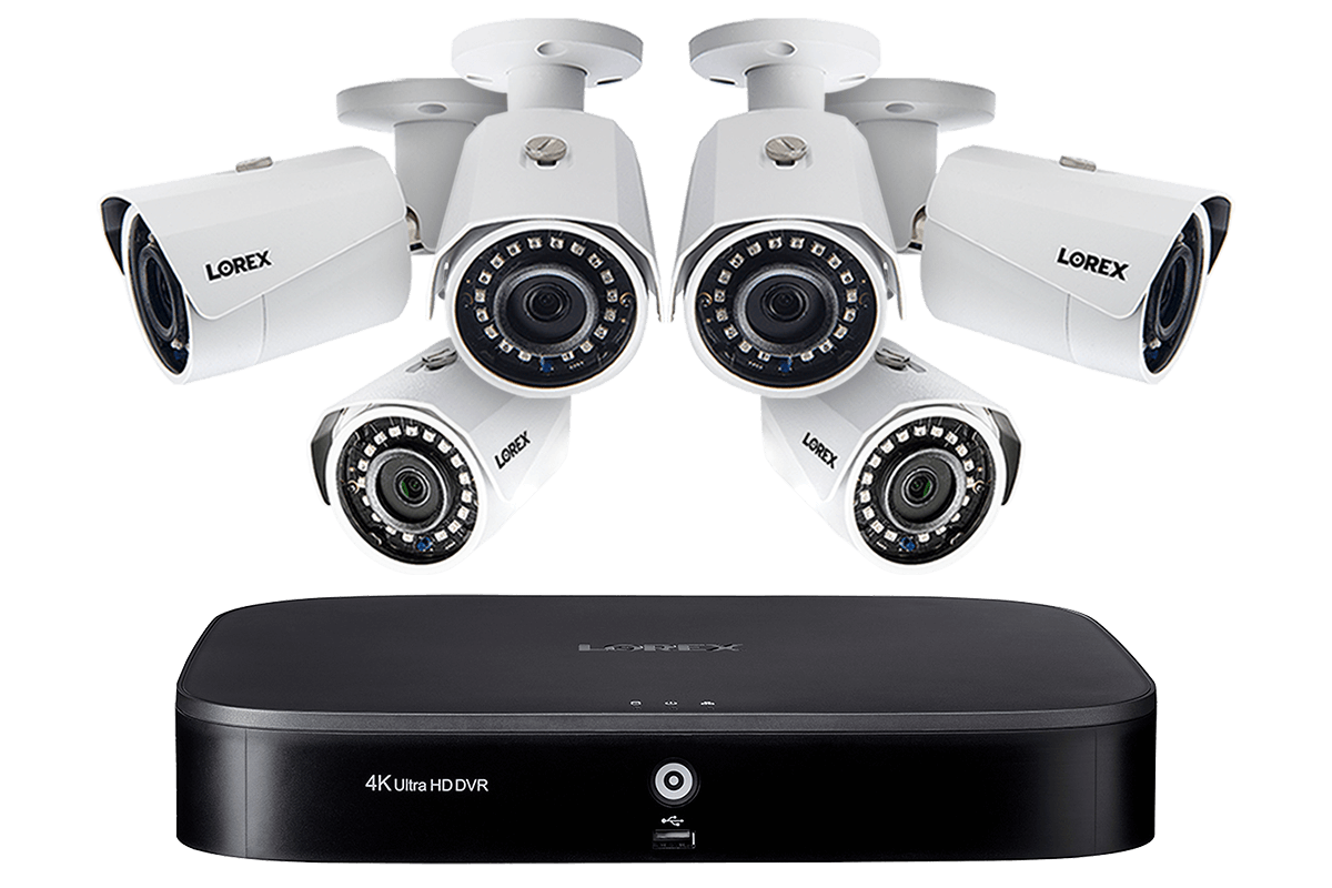 Hd Camera System With 8 Channel 4k Dvr And Six 1080p Hd Metal Outdoor Cameras 150ft Night Vision Lorex