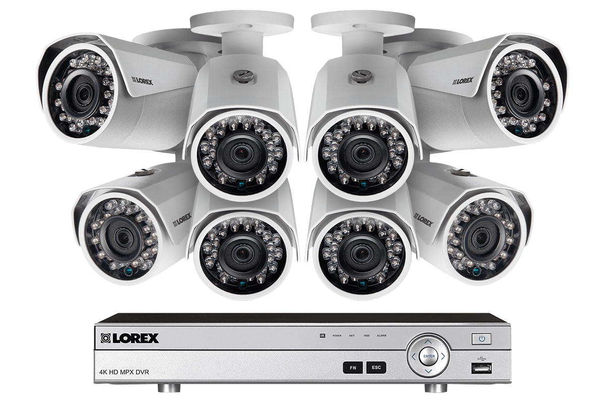 1080p Camera System with 8 Channel DVR and 8 1080p Metal Outdoor ...