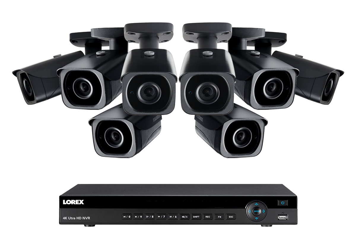 4K Ultra HD IP NVR System with 8 Outdoor 4K 8MP IP Cameras