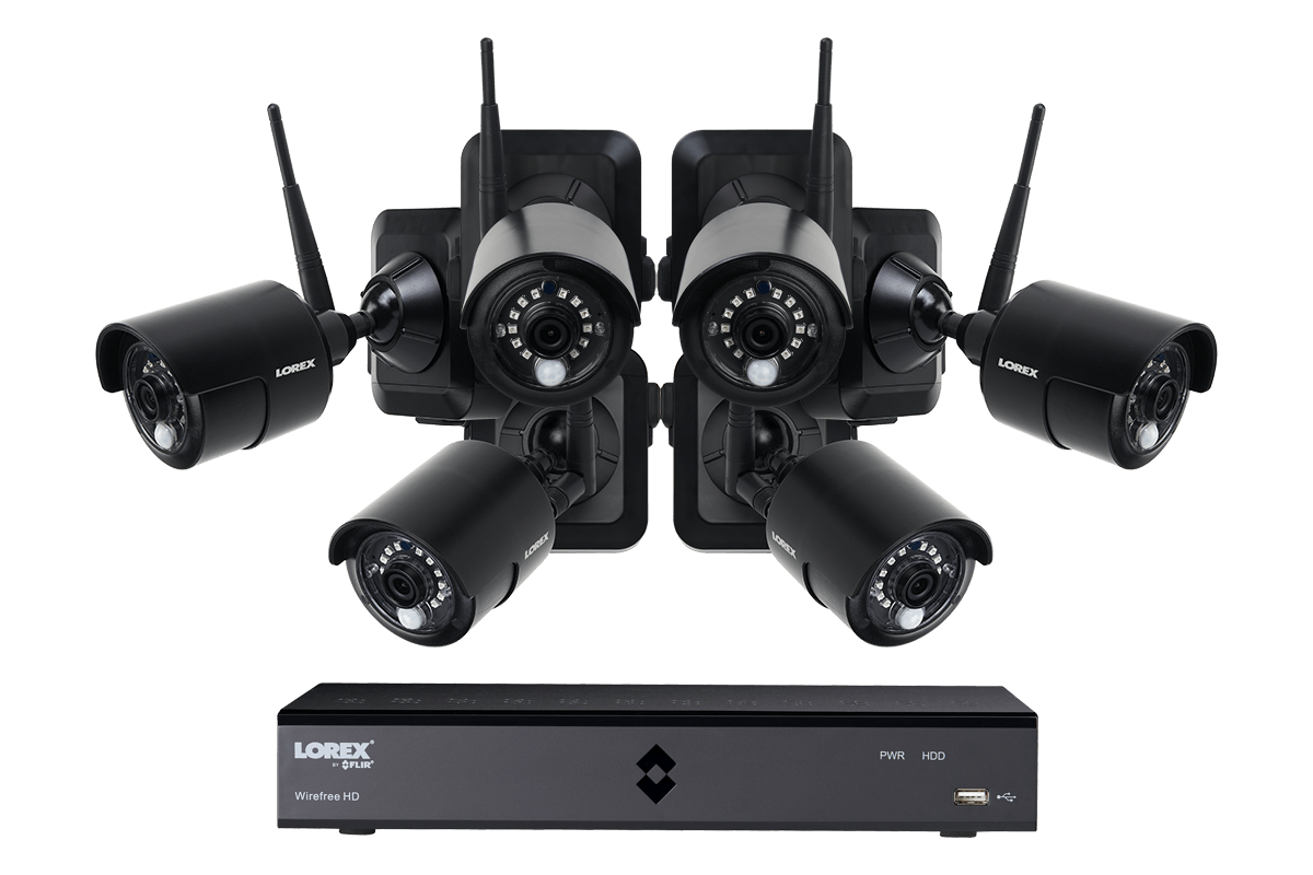 1080p Outdoor Wireless Camera System, 6 Rechargeable Wire Free ...