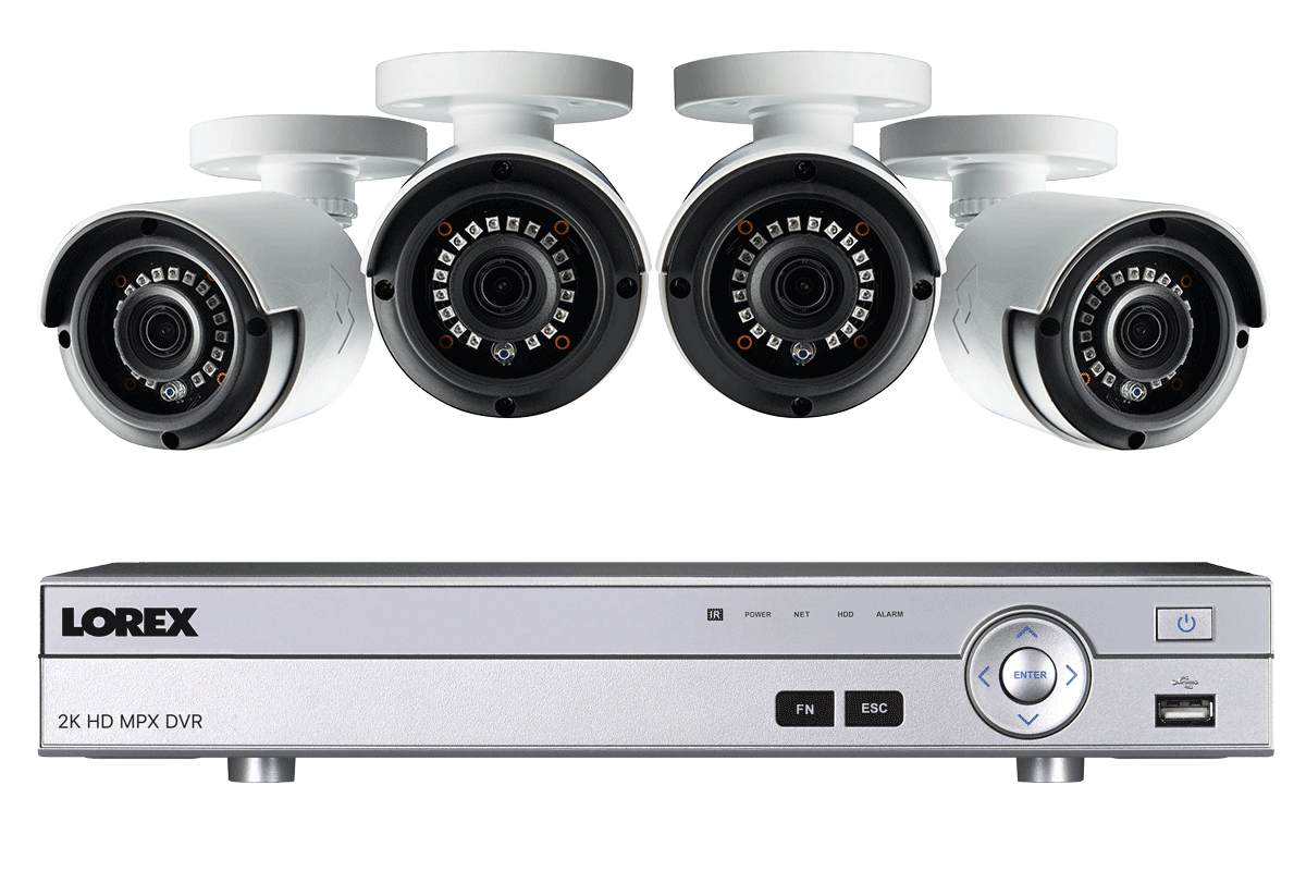 2K Super HD 4 Channel Security System with 4 Super HD 2K Outdoor ...