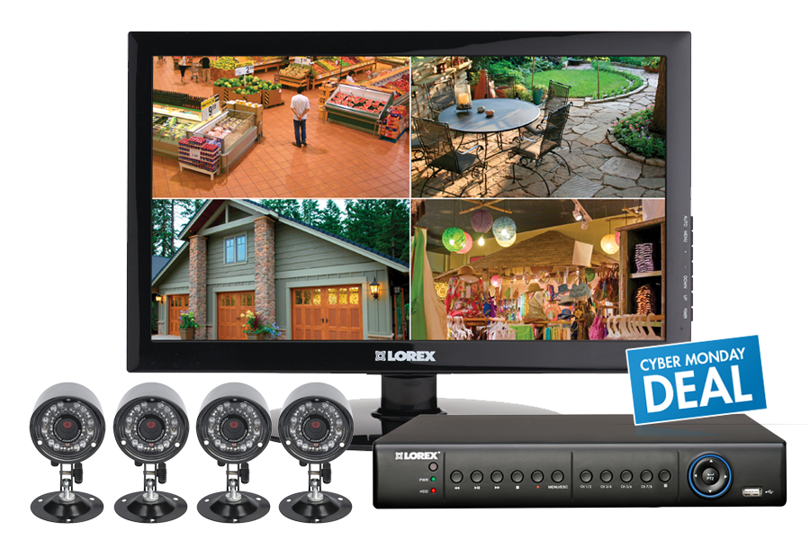 Surveillance camera system with 4 outdoor cameras | Lorex by FLIR