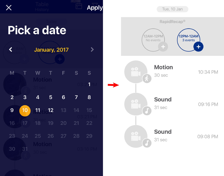 Pick a date app