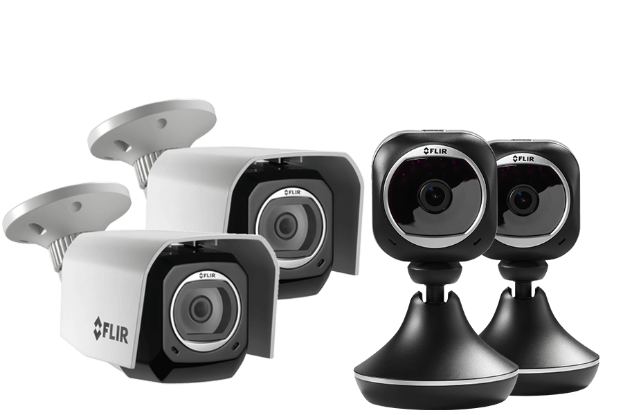 2 Weatherproof HD Security Cameras & 2 Wi-Fi Home Monitoring ...