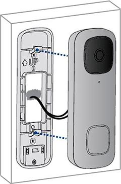 Attach the doorbell