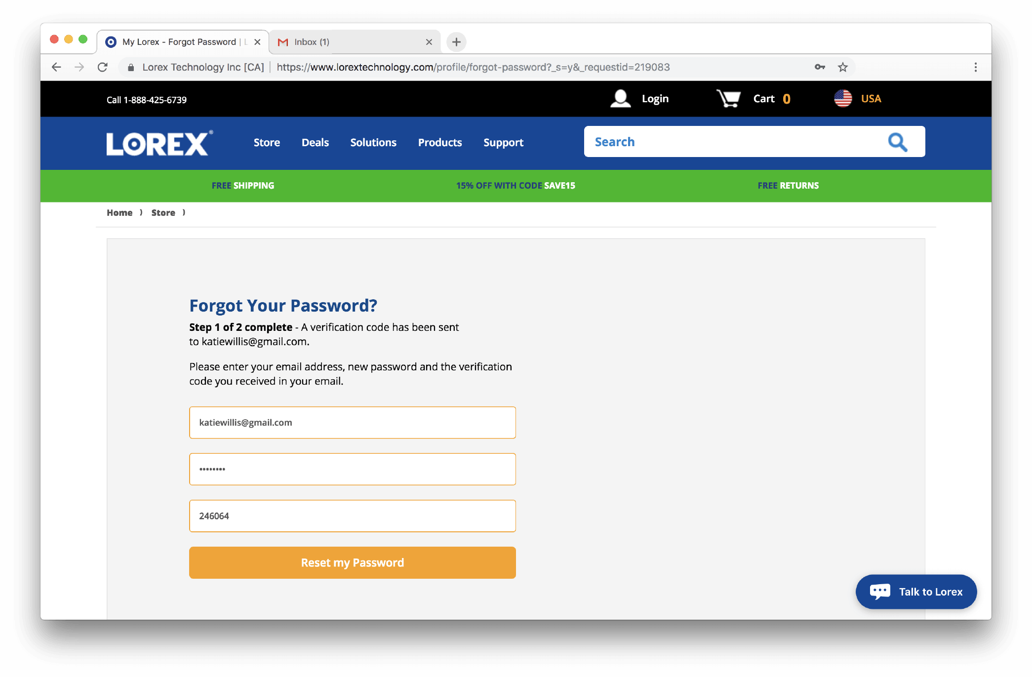 Lorex Reset Password